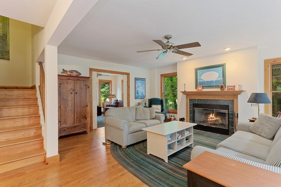 Real Estate Photography - 49210 Perkins Blvd, Grand Beach, MI, 49117 - Living Room