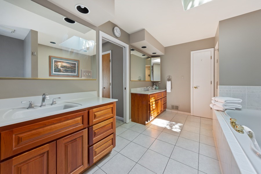 Real Estate Photography - 1709 Clarence, Arlington Heights, IL, 60004 - Master Bathroom