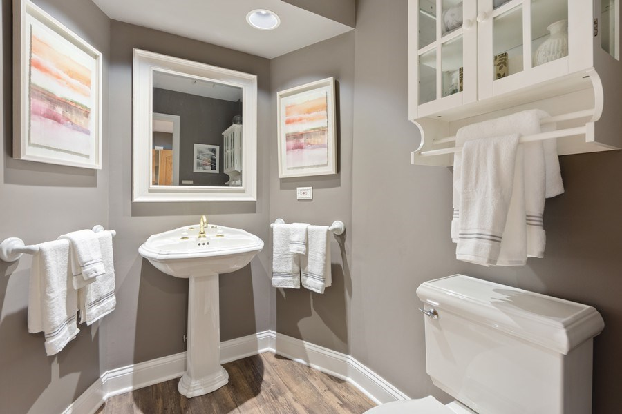 Real Estate Photography - 1709 Clarence, Arlington Heights, IL, 60004 - Powder Room