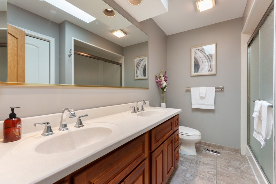 Real Estate Photography - 1709 Clarence, Arlington Heights, IL, 60004 - 2nd Bathroom