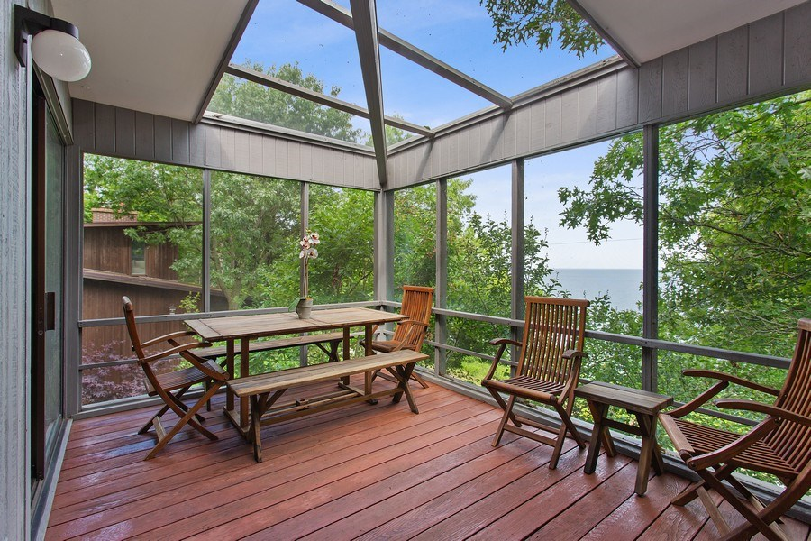 Real Estate Photography - 529 East Lake Front Drive, Beverly Shores, IN, 46301 - Porch