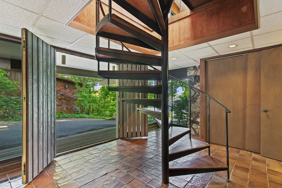 Real Estate Photography - 529 East Lake Front Drive, Beverly Shores, IN, 46301 - Staircase