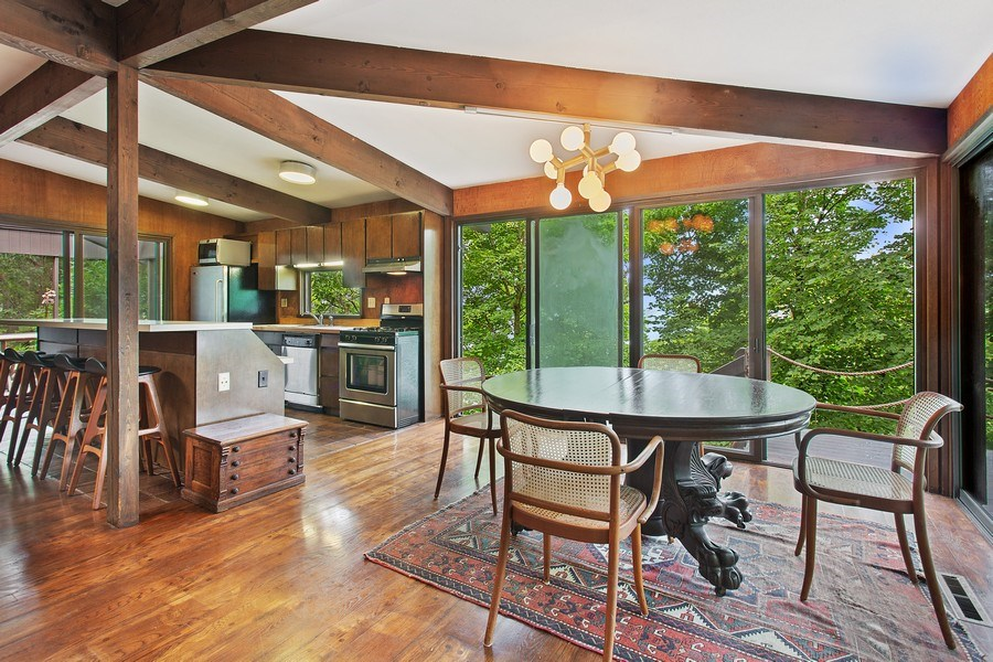 Real Estate Photography - 529 East Lake Front Drive, Beverly Shores, IN, 46301 - Kitchen / Dining Room