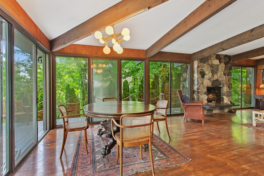 Real Estate Photography - 529 East Lake Front Drive, Beverly Shores, IN, 46301 - Living Room / Dining Room