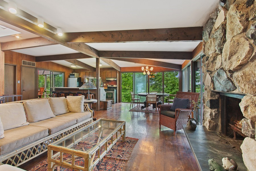 Real Estate Photography - 529 East Lake Front Drive, Beverly Shores, IN, 46301 - Living Room/Dining Room
