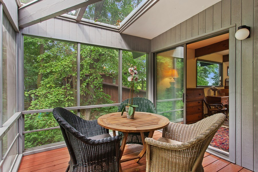 Real Estate Photography - 529 East Lake Front Drive, Beverly Shores, IN, 46301 - Sun Room