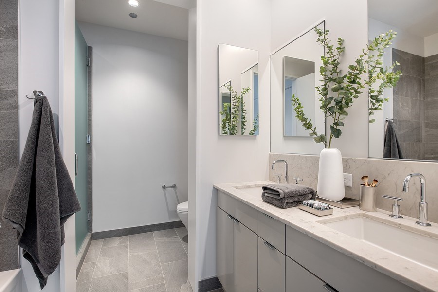 Real Estate Photography - 61 E Banks St, Chicago, IL, 60610 - Master Bathroom