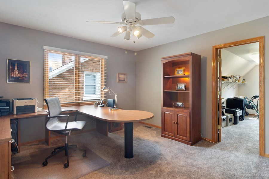 Real Estate Photography - 18 S Louis St, Mount Prospect, IL, 60056 - Bedroom 4 with En Suite & Walk-in Room/Closet