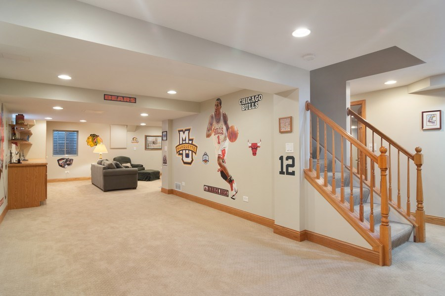 Real Estate Photography - 18 S Louis St, Mount Prospect, IL, 60056 - Finished Basement - Game Room