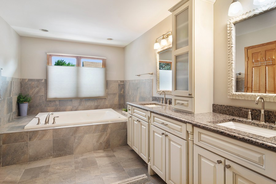 Real Estate Photography - 18 S Louis St, Mount Prospect, IL, 60056 - Master Bathroom