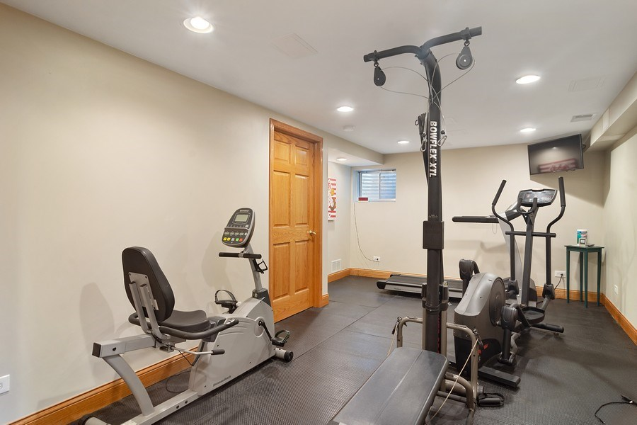 Real Estate Photography - 18 S Louis St, Mount Prospect, IL, 60056 - Exercise Room
