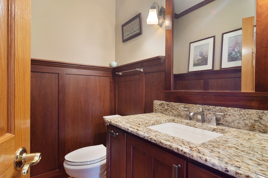 Real Estate Photography - 18 S Louis St, Mount Prospect, IL, 60056 - Powder Room - 1st Floor