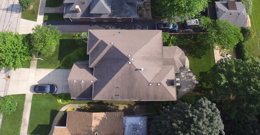 Real Estate Photography - 18 S Louis St, Mount Prospect, IL, 60056 - Aerial View