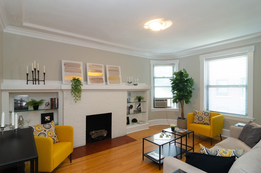 Real Estate Photography - 828 W LAKESIDE PLACE 3S, Chicago, IL, 60640 - Living Room