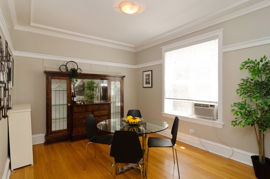 Real Estate Photography - 828 W LAKESIDE PLACE 3S, Chicago, IL, 60640 - Dining Room