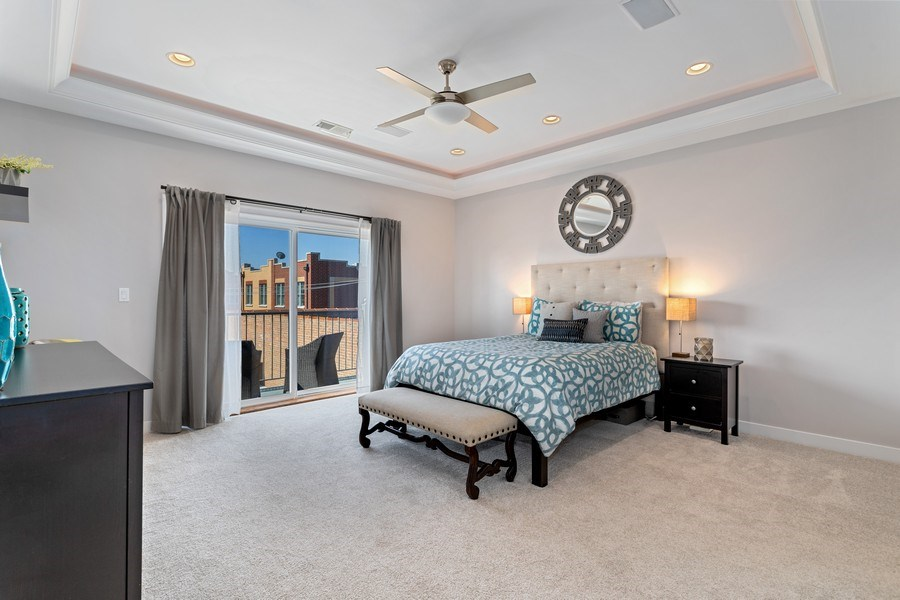Real Estate Photography - 2441 W Belmont, #3W, Chicago, IL, 60618 - Master Bedroom