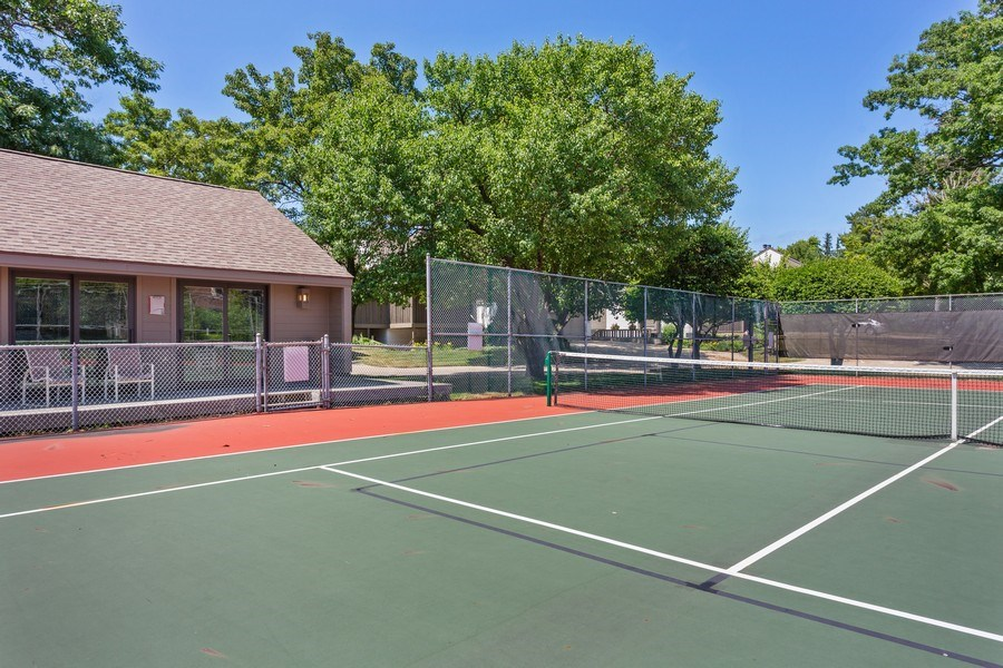 Real Estate Photography - 101 North Shore Drive #30, South Haven, MI, 49090 - Tennis Court