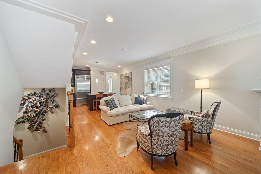 Real Estate Photography - 814 W. Buckingham Ave., Unit 1, Chicago, IL, 60654 - Living Room