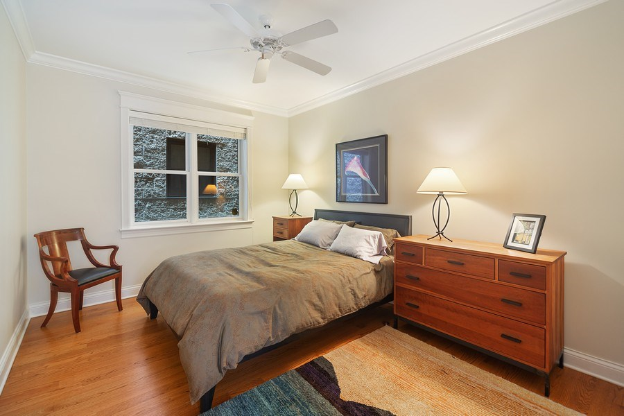 Real Estate Photography - 814 W. Buckingham Ave., Unit 1, Chicago, IL, 60654 - Bedroom 3