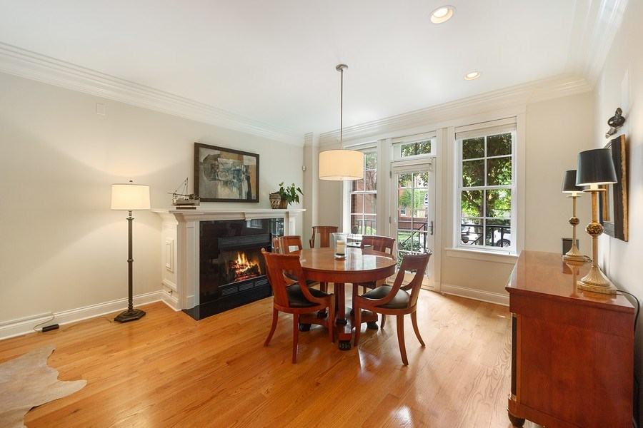 Real Estate Photography - 814 W. Buckingham Ave., Unit 1, Chicago, IL, 60654 - Dining Room