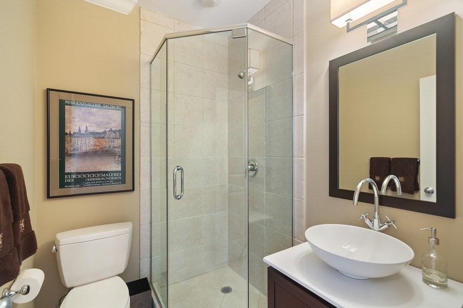 Real Estate Photography - 814 W. Buckingham Ave., Unit 1, Chicago, IL, 60654 - Main Level Bathroom