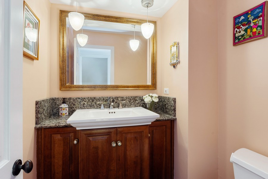 Real Estate Photography - 1340 Lake Shore Dr S, Barrington, IL, 60010 - Powder Room