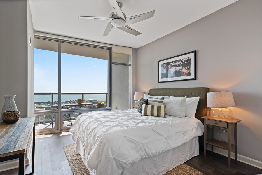 Real Estate Photography - 100 E 14th St, 2904, Chicago, IL, 60605 - 2nd Bedroom