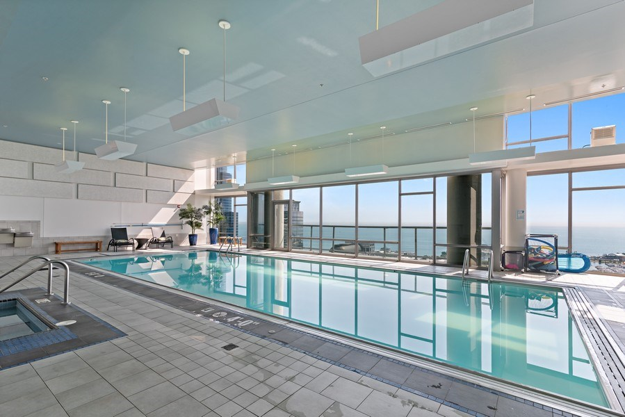 Real Estate Photography - 100 E 14th St, 2904, Chicago, IL, 60605 - Pool