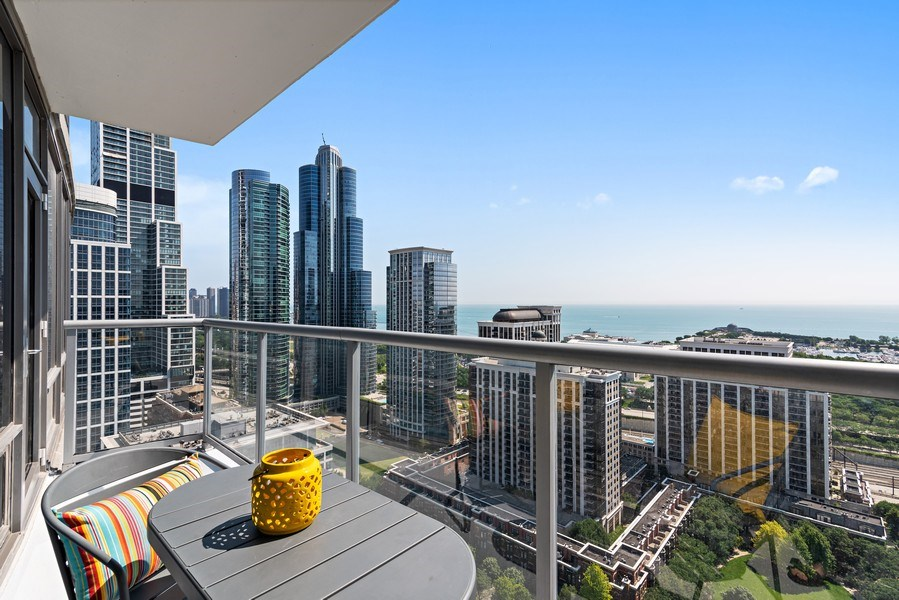 Real Estate Photography - 100 E 14th St, 2904, Chicago, IL, 60605 - Balcony
