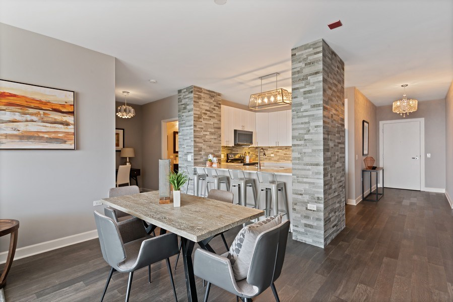 Real Estate Photography - 100 E 14th St, 2904, Chicago, IL, 60605 - Kitchen / Dining Room