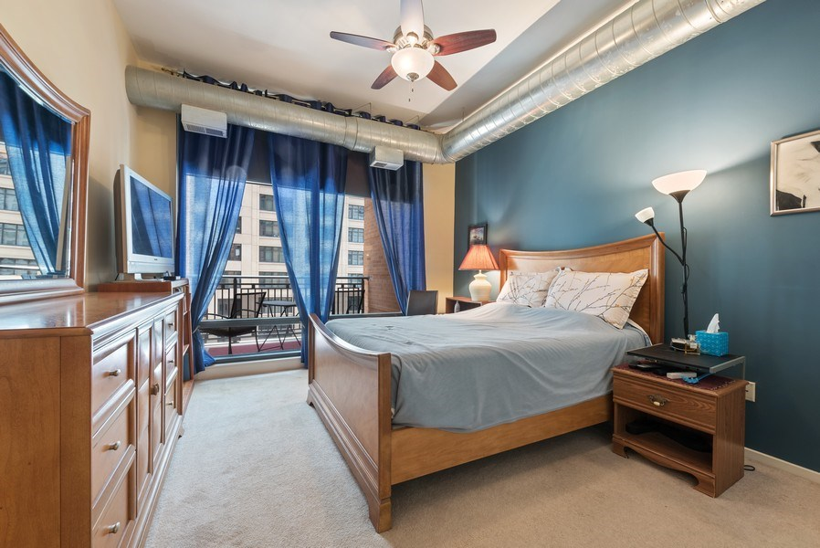 Real Estate Photography - 520 S State, Apt 602, Chicago, IL, 60605 - Master Bedroom