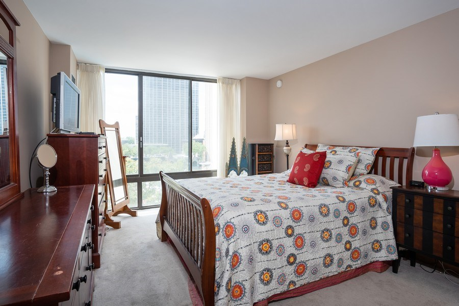 Real Estate Photography - 1516 N State Pkwy, Unit 9C, Chicago, IL, 60610 - Master Bedroom