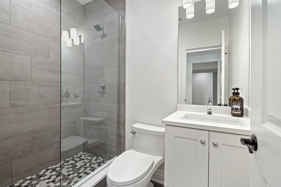 Real Estate Photography - 740 Coronet Rd, Glenview, IL, 60025 - Basement Bathroom