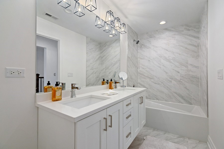 Real Estate Photography - 740 Coronet Rd, Glenview, IL, 60025 - 3rd Bathroom