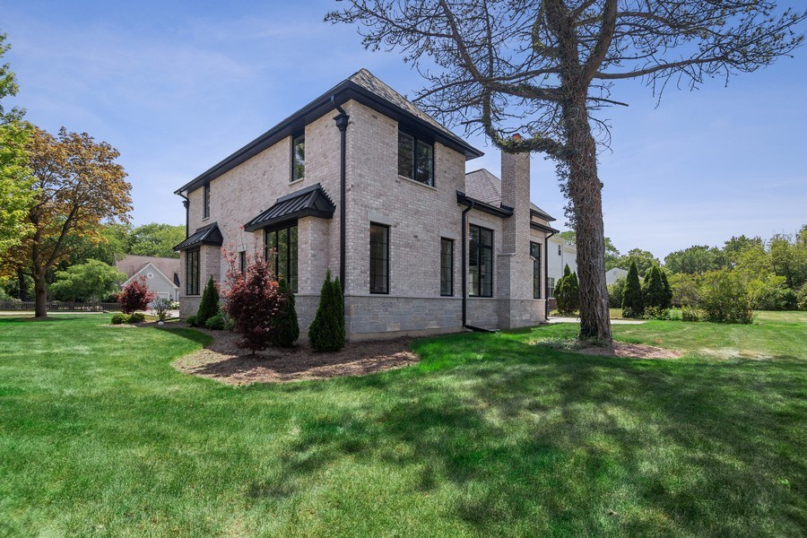 Real Estate Photography - 740 Coronet Rd, Glenview, IL, 60025 - Rear View