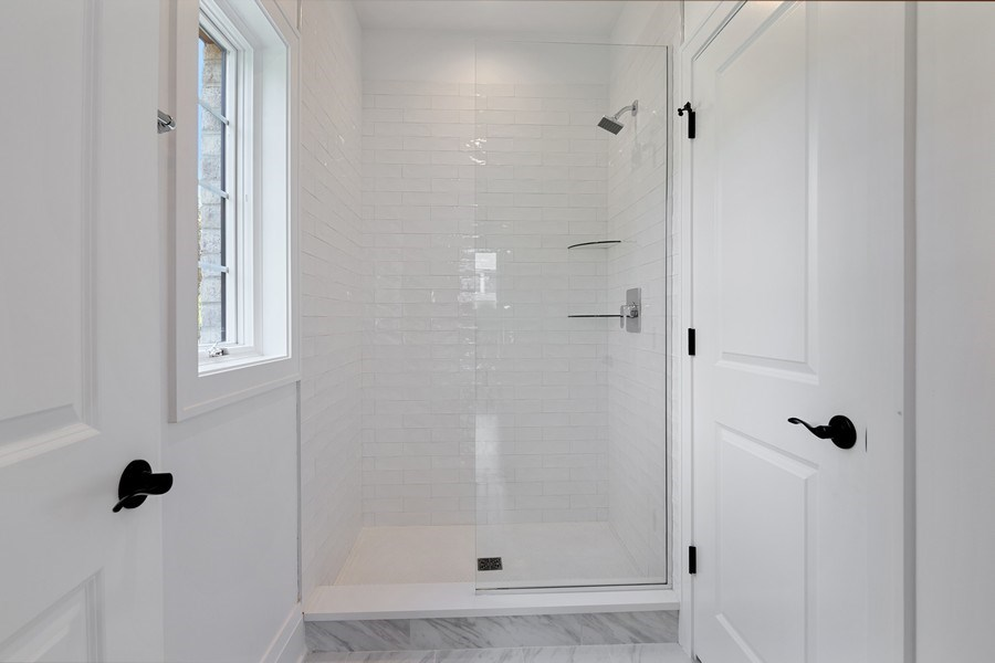 Real Estate Photography - 740 Coronet Rd, Glenview, IL, 60025 - 1st Floor Bathroom