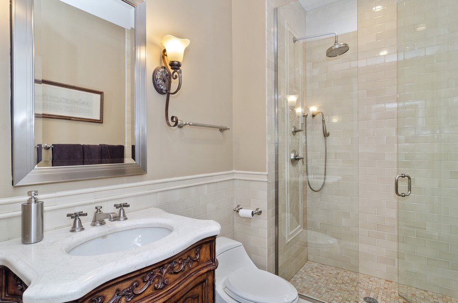 Real Estate Photography - 2632 Burling, Chicago, IL, 60614 - 3rd Bathroom