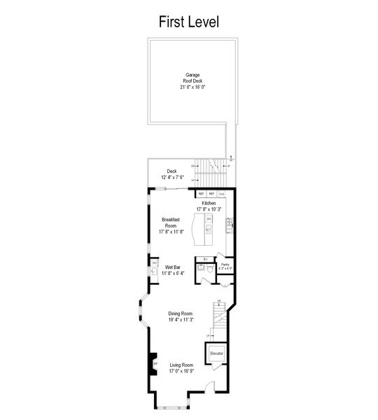 Real Estate Photography - 2632 Burling, Chicago, IL, 60614 - Floor Plan