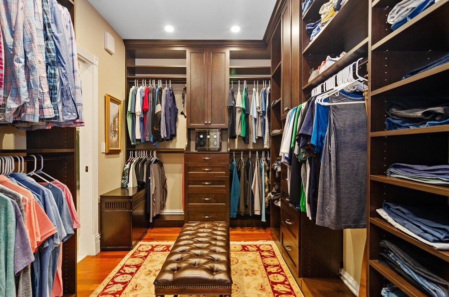 Real Estate Photography - 2632 Burling, Chicago, IL, 60614 - Master Bedroom Closet