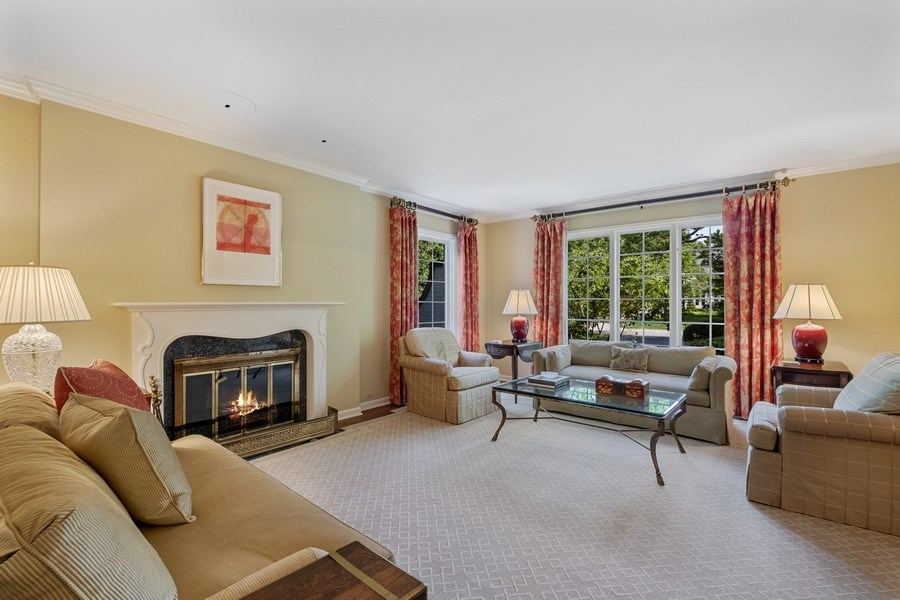Real Estate Photography - 12 Kent Rd, Winnetka, IL, 60093 - Living Room