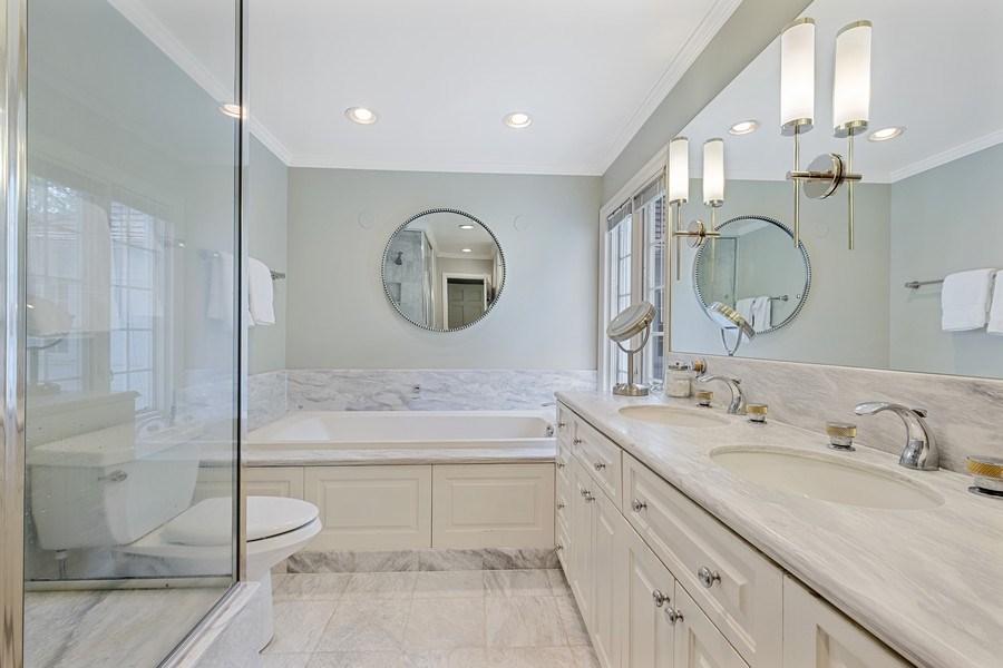 Real Estate Photography - 12 Kent Rd, Winnetka, IL, 60093 - Master Bathroom