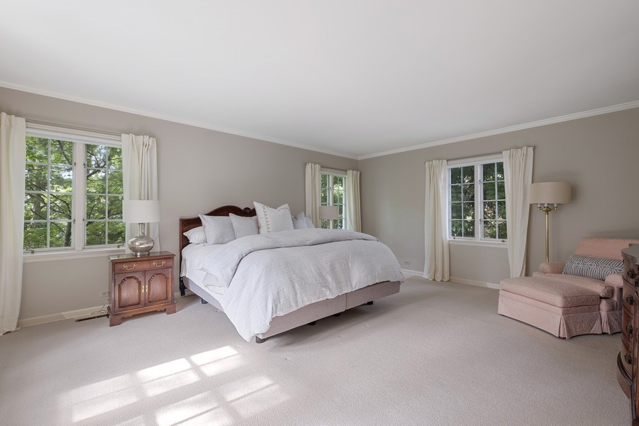 Real Estate Photography - 12 Kent Rd, Winnetka, IL, 60093 - Master Bedroom