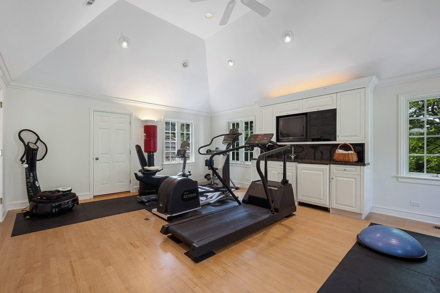 Real Estate Photography - 12 Kent Rd, Winnetka, IL, 60093 - Exercise Room