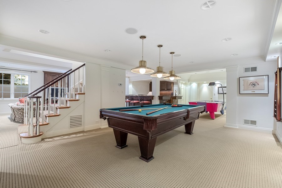 Real Estate Photography - 12 Kent Rd, Winnetka, IL, 60093 - Recreational Room