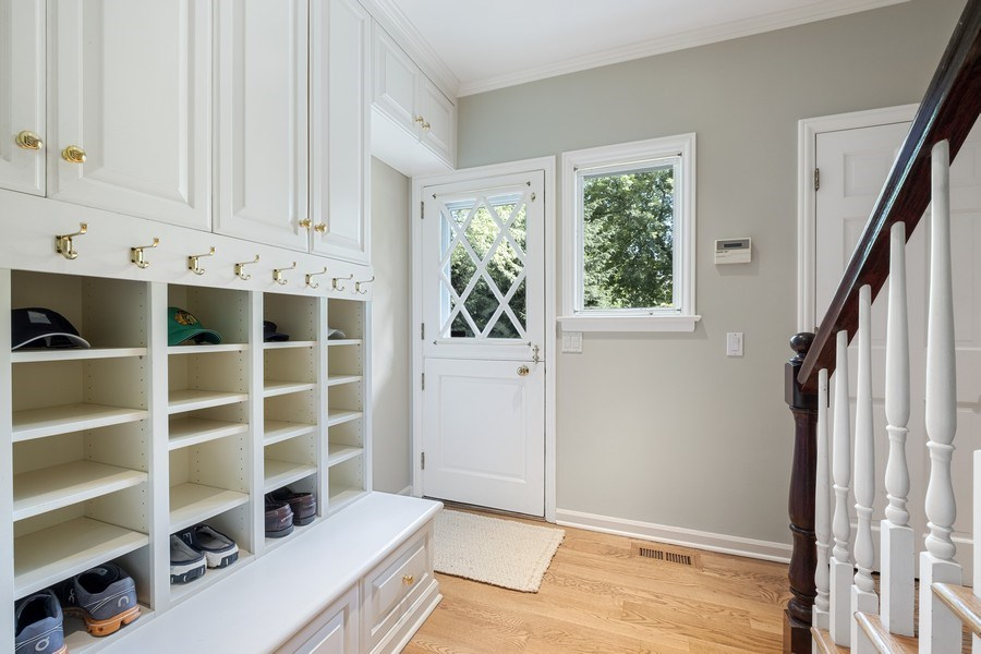 Real Estate Photography - 12 Kent Rd, Winnetka, IL, 60093 - Mudroom