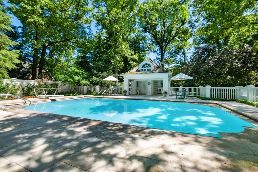 Real Estate Photography - 12 Kent Rd, Winnetka, IL, 60093 - Pool