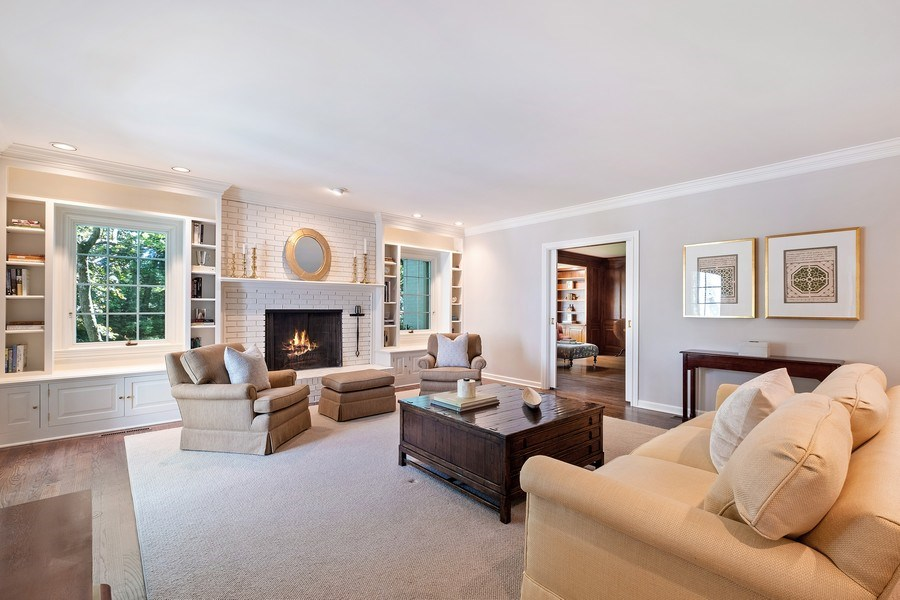 Real Estate Photography - 12 Kent Rd, Winnetka, IL, 60093 - Family Room