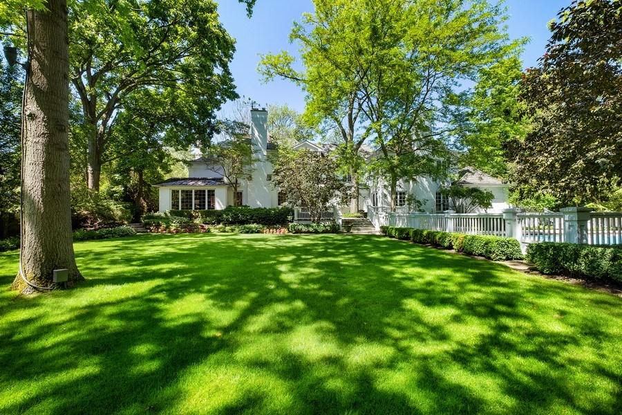 Real Estate Photography - 12 Kent Rd, Winnetka, IL, 60093 - Rear View
