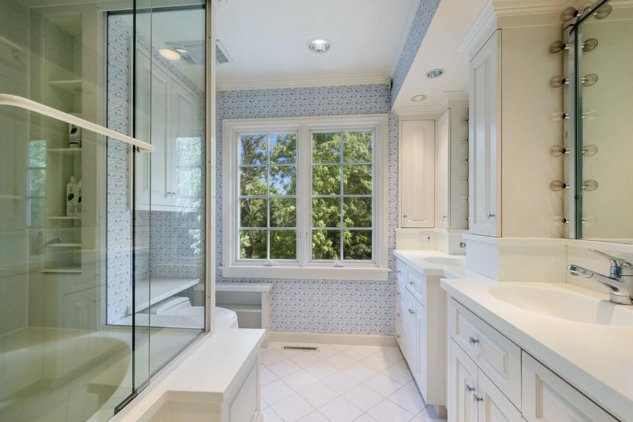 Real Estate Photography - 12 Kent Rd, Winnetka, IL, 60093 - 2nd Bathroom