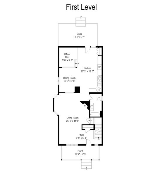 Real Estate Photography - 3614 N. Richmond, Chicago, IL, 60618 - Floor Plan